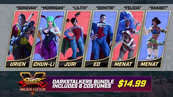 Darkstalkers Costumes Fly in to Street Fighter V: Arcade